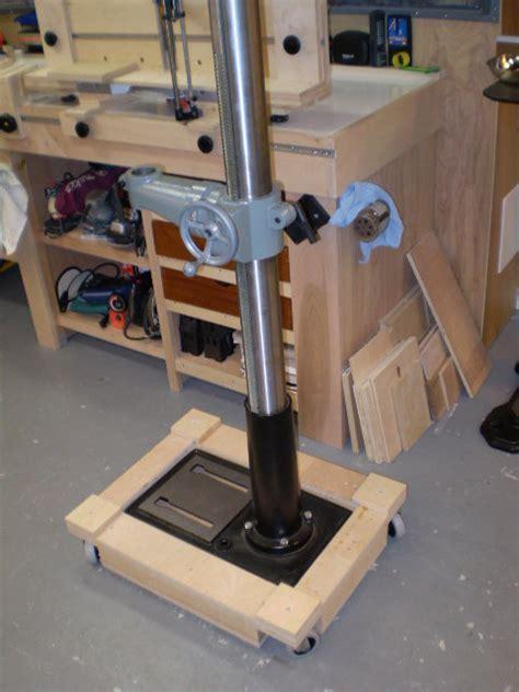 rolling base   drill press  donh  lumberjockscom