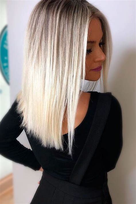 Super Long Platinum Blonde Ombre Hair | 30 platinum blonde hair shades and highlights for 2017
