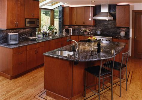 cherry wood kitchen cabinets with black granite cherry wood cabinets with granite countertop wood corner