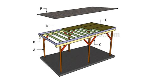How To Build A Roof Plans Carport Building Plans Flat Roof Carport Plans