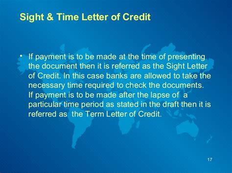 Letter Of Credit At Sight Traduccion financing international trade slides