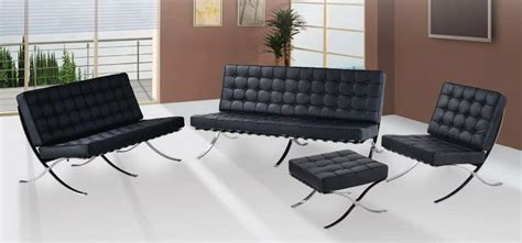 Leather Livingroom Furniture exposition famous design black leather sofa prime classic