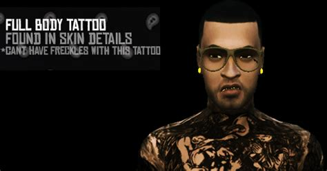 My Sims 4 Blog: Full Body Tattoo and Bracelet by HustlerxSims
