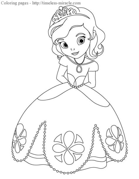 Sofia Drawings Coloring Pages Princess Sofia Coloring Pics
