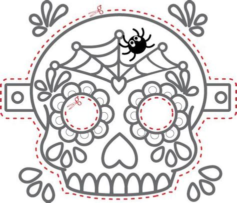 Day Of Dead Printable Masks 177 best dia de los muertos black and white images on