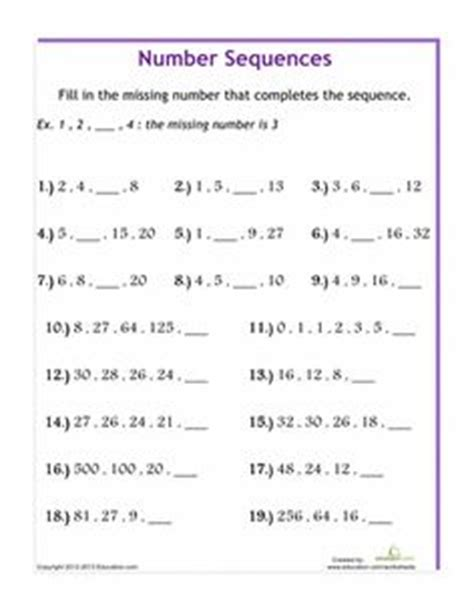 pattern relationship worksheets 5th grades worksheets and algebra on pinterest