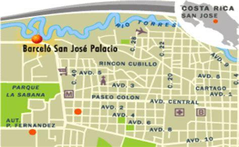 san jose map hotels rates location barcelo san jose palacio hotel san jos 233