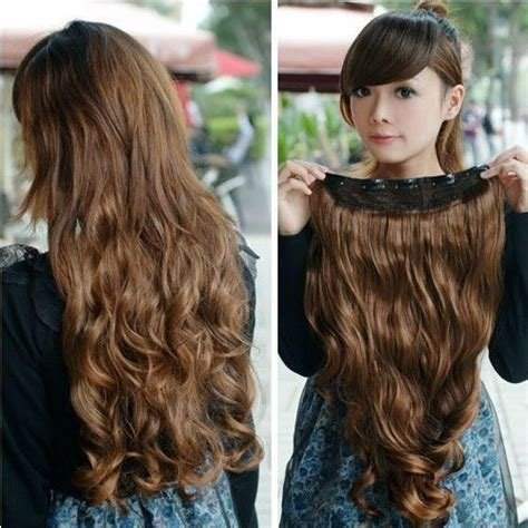 Rambut Palsu Hair Clip Keriting jual hair clip extension rambut palsu big layer curly