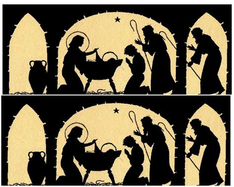 search results for nativity scene silhouette template for