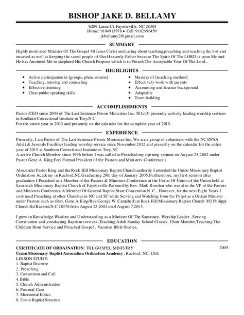 minister resume sle pastor resume templates 19 images 7 best images about