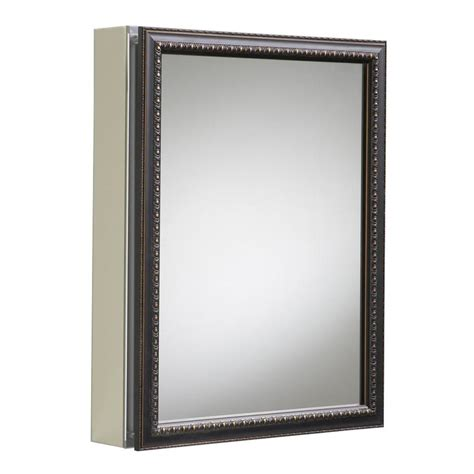 recessed medicine cabinets with mirrors shop kohler 20 in x 26 in rectangle surface recessed
