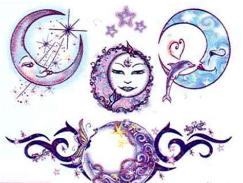 mystical moon tattoos bartz s party stores