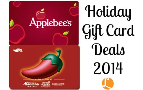Holiday Gift Card Deals - holiday gift card deals 2014 save at restaurants wyb gift cards living rich with
