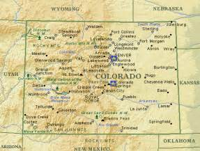 colorado state map with cities and counties colorado