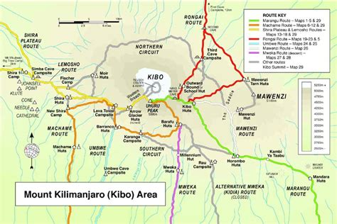 map route kilimanjaro routes what is the best route up kilimanjaro