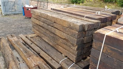 Wooden Sleeper by Reclaimed Wooden Railway Sleepers Watling Reclamation