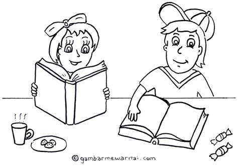 mewarnai gambar anak membaca buku newhairstylesformen2014