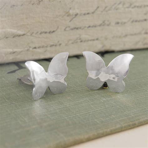 butterfly sterling silver clip on earrings by otis jaxon