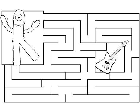 nick jr yo gabba gabba coloring pages muno maze printable yo gabba gabba pinterest maze