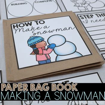 How To Make A Paper Book Bag - how to build a snowman paper bag book by the husky loving