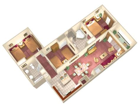 3 bedroom resorts in orlando fl suites accommodate up 2 bedroom suite floor plan picture of floridays resort