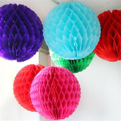 How To Make Large Tissue Paper Flower Balls - aliexpress buy w 25cm 10 inch tissue paper flowers