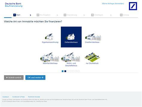 deutsche bank banking antrag deutsche bank baufinanzierung test und