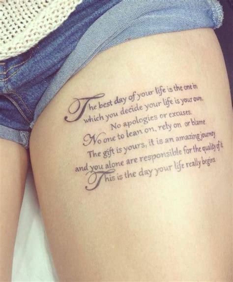 thigh tattoo quotes tumblr thigh tattoos tumblr