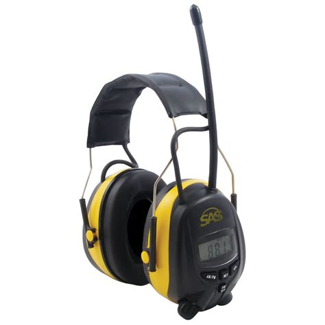 hearing protection sas digital hearing protection with am fm radio and mp3