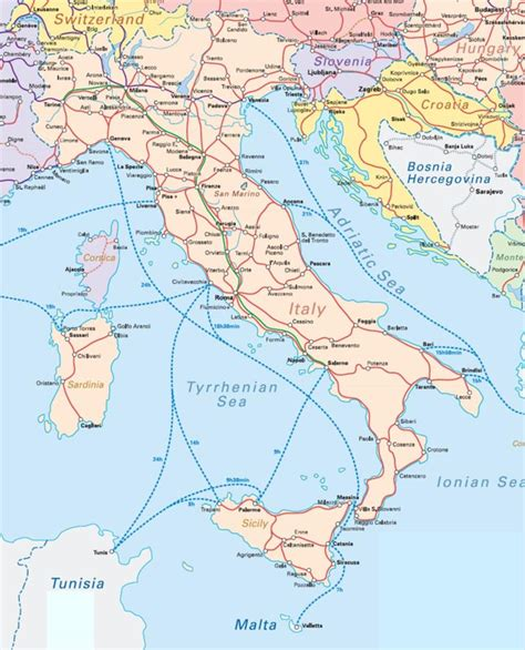 eurail map eurail map italy images