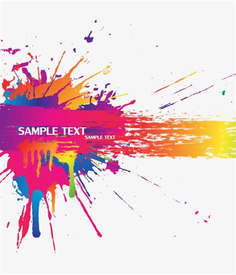 splash of color color splash background vector material color splash
