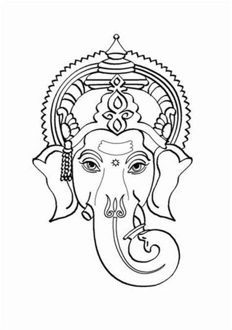 free coloring pages of how to draw ganesh