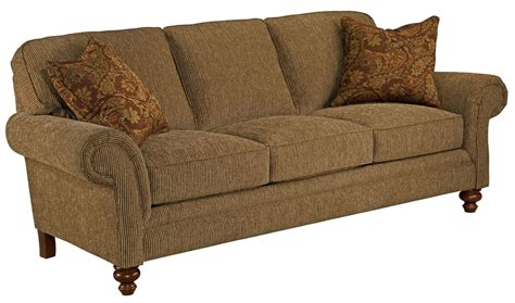 larissa cherry stain chenille fabric sofa from broyhill