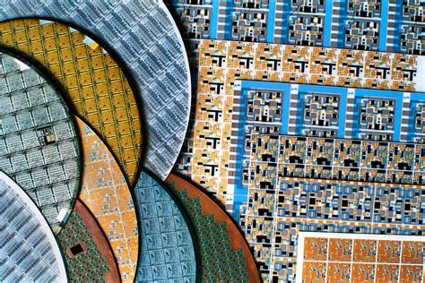 Sirwal Begy Jumbo Canvas Wafer vintage national semiconductor ceramic and silicon wafer discs print photograph by
