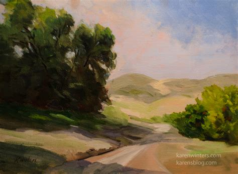 California Landscape Oak Impressionist Hills Oil Painting Paintings Of Landscapes