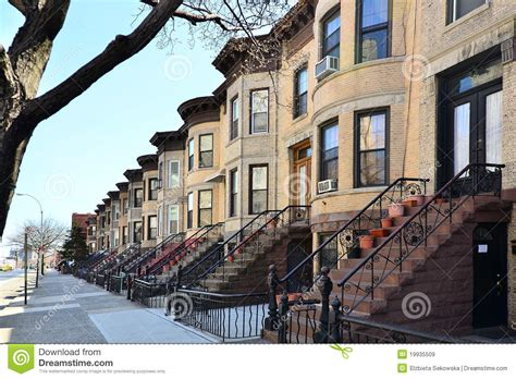 we buy houses brooklyn brownstones brooklyn ny stock image image of york 19935509