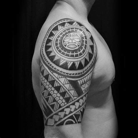 tribal sun tattoos for men 75 tribal arm tattoos for interwoven line design ideas
