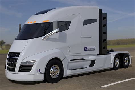 nikola electric semi truck nikola readies electric fuel cell semi truck trucks com