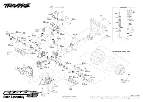 traxxas slash diagram 6808 rear exploded view slash 4x4 with tqi 2 4ghz radio
