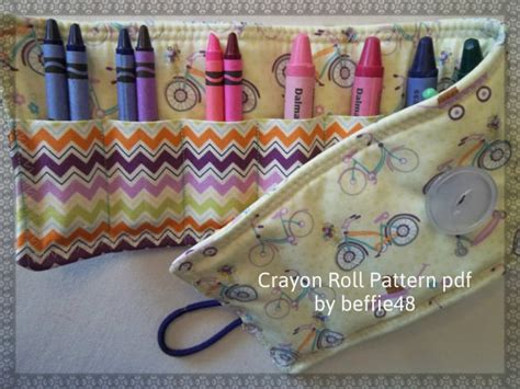 pattern for crayon roll up pattern kids roll up crayon holder tutorial pdf