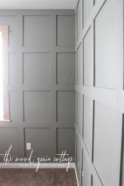 Is Wainscoting Out Of Style - grid board amp batten in the office the wood grain cottage