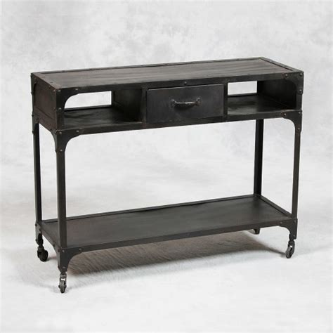 industrial style console table industrial style metal console table modern side