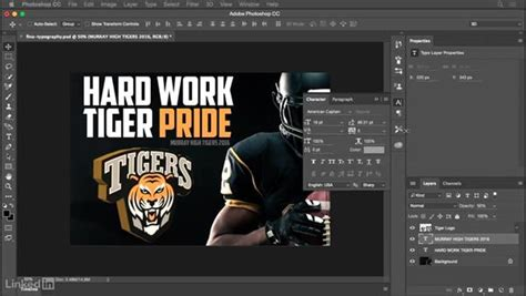 typography tutorials photoshop for beginners finalizing the typography and layout of your design