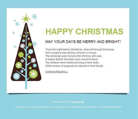 All For Christmas Seasonal Cards Email Templates And Landing Pages Gt3 Themes Email Card Template