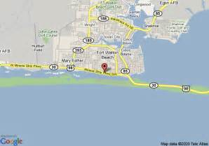 map of comfort inn suites fort walton fort walton