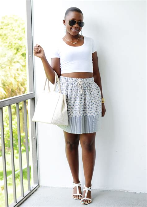 crop top and high waist skirt 5