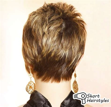 front and back pictures of short hairstyles for gray hair pix for gt short haircuts for women front and back view