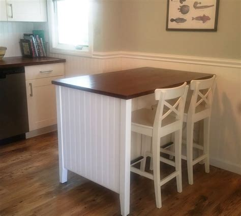 Island In Kitchen salt marsh cottage ikea kitchen island hack