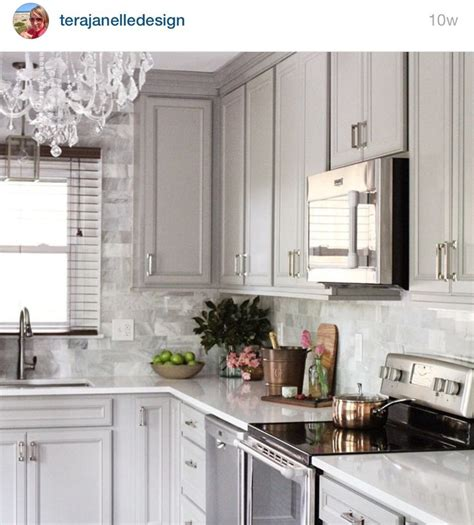 Gray Kitchen Cabinets 63 Best Images About Kitchen Remodel On Pinterest Stove Gray Cabinets And Antique White Kitchens