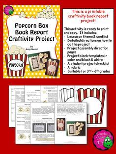 Cd Book Report Project by Popcorn Theme On